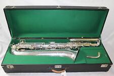 Selmer Paris New Large Bore Bass Saxophone SILVER PLATE NICE! QuinnTheEskimo