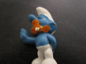 Smurfs Orange Flower Smurf Vintage Rare (e)