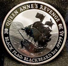 World Silver Coin - 2019 BU 1 Oz Tuvalu 1$ Queen Anne's Revenge #1254