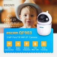 ESCAM QF903 3MP Cloud Storage Pan/Tilt WiFi IP Camera Two Way Talk Night Vision