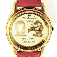 Taz, Tasmanian Devil First Sketch Model Sheet Fossil Watch Unworn Ltd X/2500 $99