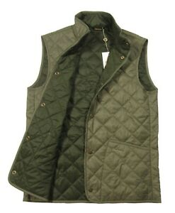 Barbour Men's Dusty Olive Green Blundell Lightweight Quilted Button Snap Vest