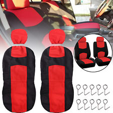 Sitzbezüge 1+2 Schonbezüge für Opel ohne Seitenairbag Rot//Schwarz AS7324