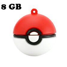 8 GB Hot Game Pokemon Go Poke Ball USB 2.0 Memory Stick Pen Thumb Flash Drive