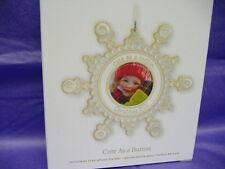 Hallmark 2011- CUTE AS A BUTTON -Snowflake Photo Holder Ornament- MIB