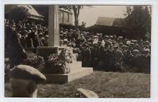 More details for unveiling of lilliesleaf war memorial: selkirkshire postcard (c63687)