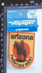 VINTAGE ARIZONA STATE USA EMBROIDERED SOUVENIR PATCH WOVEN CLOTH SEW-ON BADGE