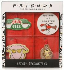 FRIENDS TELEVISION SERIES SET OF 4 CHRISTMAS DECORATIONS NEW