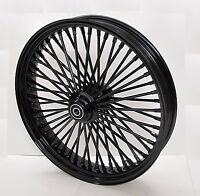 DNA MAMMOTH FAT 52 SPOKE 21x3.5 ALL BLACK FRONT WHEEL HARLEY SOFTAIL FXST FXDWG