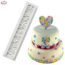 Lace Button Silicone Fondant Mold Cake Border Decoration Sugarcraft Baking Mould