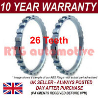 2X FOR RENAULT CLIO MK1 MK2 26 TOOTH 74.95MM ABS RELUCTOR RING DRIVESHAFT 0102