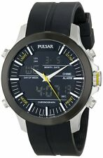 PULSAR MEN'S ANALOG DIGITAL BLACK WATCH PW6001