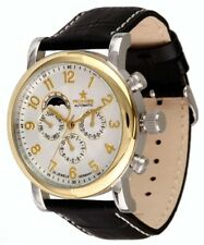 Pionier Watches Model Montreal Men's Automatic Leather Watchband Date