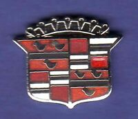 CADILLAC CREST HAT PIN LAPEL PIN TIE TAC ENAMEL BADGE SILVER #0709 SMALL