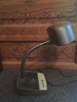 Vintage Mid Century Industrial Gooseneck Metal Desk Lamp