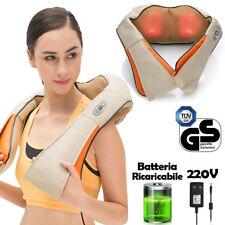 Massaggiatore Elettrico Batteria Ricaricabile Massaggio Cervicale Schiena Spalle