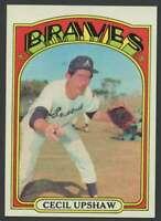 1972 Topps #74 Cecil Upshaw NM/NM+ Braves 27735