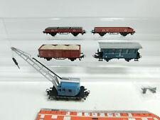 be596-1 # 5x Märklin H0/AC Vagón de mercancía etc. (Conjunto 2853) DB : Camión
