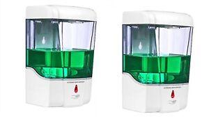 2 X Touchless Automatic Sanitiser Hands Free Sanitizer Soap Dispenser IR Sensor