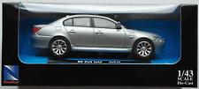 Newray-BMW m5 silbermet. 1:43 nuevo/en el embalaje original maqueta de coche