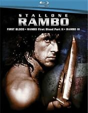 Rambo First Blood Parts 1 / 2 / 3 Blu-ray 1982 Sylvester Stallone