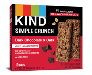 Kind Simple Crunch Dark Chocolate & Oats