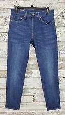Levis Premium Mens Skinny Stretch Jeans Dark Wash Blue Size 32X32