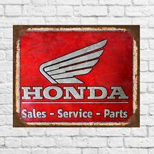 Honda service tin sign, Honda sign, Honda metal sign, Honda auto, Honda gift