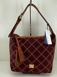 Dooney Bourke Paige Sac Shoulder Bag Signature Bordeaux Logo $248 NWT