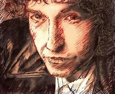 BOB DYLAN by Ruth Freeman DRAWN WITH INK ON PAPER 6 3/4  X 7 3/4