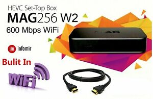 MAG 256w2 Genuine Original Infomir IPTV Set Top TV Box With Built-In Wi-Fi 420
