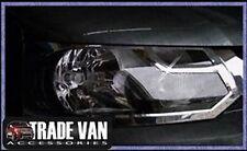 VW T5 TRANSPORTER &CARAVELLE 2010 CHROME FRONT HEAD LIGHT COVERS STAINLESS STEEL
