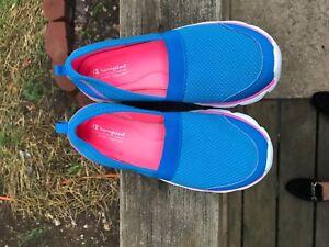 Champion Sport Comfort Womens  Slip On Shoe Blue Memory Foam Slip On SIZE 6