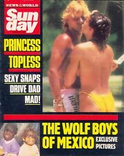 Princess Stephanie Topless in N of W SUNDAY Magazine, March 1987. VGC
