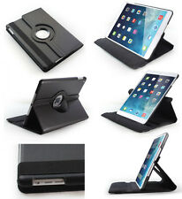 Apple iPad Mini 1 2 - Black 360° Rotating Stand Leather Case with wake/sleep