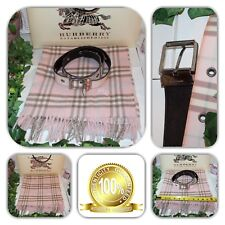 COUTURE-BURBERRY NOVA CHECK/PINK BELT AND SCARF LOT! (2 PIECES)