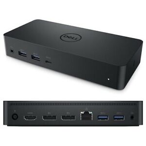 Dell D6000 USB-C Docking Station Dual DisplayPort HDMI with Power Adpter