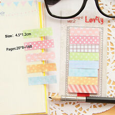 160 Pages Cute Sticker Flags Bookmark-Page-Marker Memo Index Tab Sticky Note