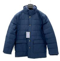 Jack Victor Elements Mens L Puffer Coat JESSE Quilted  Parka Down Navy Blue