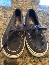 SPERRY TOP SIDER shoes size12.5 Halyard Boys Brown EUC
