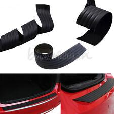 Car Rear Bumper Sill/Protector Plate Rubber Guard Pad Moulding Trim Cover Black