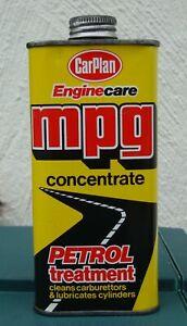 CLASSIC CAR 300ml TIN CARPLAN MPG PETROL TREATMENT IN UNUSED CONDITION ~ 1980's