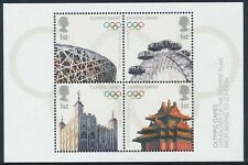 2008 GB OLYMPIC FLAG HANDOVER MINI SHEET FINE MINT MNH SGMS2861