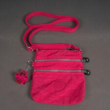 Kipling Hot Pink Adjustable Crossbody Shoulder Travel Tote Bag Purse 3 Zips Excl
