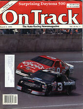On Track Magazine March 8 1990 Dale Earnhardt EX 021716jhe