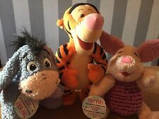 Disney 'Winnie The Pooh' Talking/Singing Soft Toys - Tigger, Piglet & Eeyore!