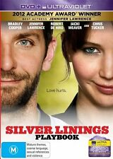 SILVER LININGS PLAYBOOK Bradley Cooper / Jennifer Lawrence DVD R4 - New