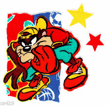 "3"" LOONEY TUNES TAZ DEVIL SPORTS STAR BASEBALL BALL FABRIC APPLIQUE IRON ON"