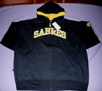 Buffalo Sabres Hoodie 4XL Stitched Full Zip Jacket Embroidered Logos NHL