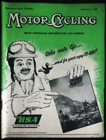 MOTOR CYCLING MAGAZINE FEB 2 1956 - BSA